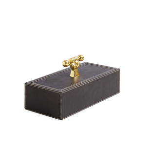 Jonathan Adler Barbell Leather Box Home decor