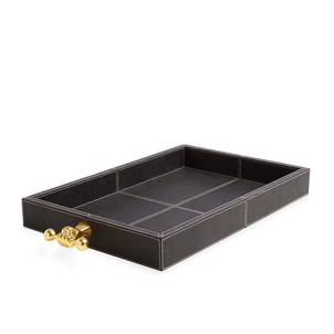 Jonathan Adler Barbell Leather Tray Home decor
