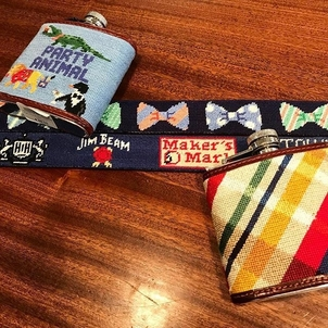 Smathers & Branson Embroidered Belts and Flasks Accessories