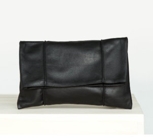 Ceri Hoover Pintuck Clutch in Black Bags