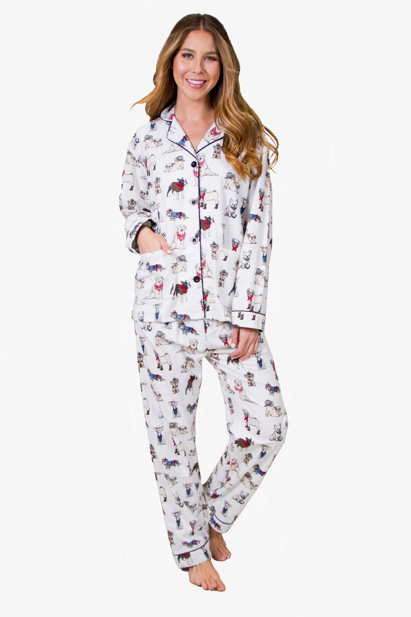 P.J. Salvage Dog Flannel in Ivory Sleepwear