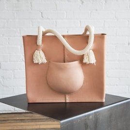 Pocket Tote Bag - Natural