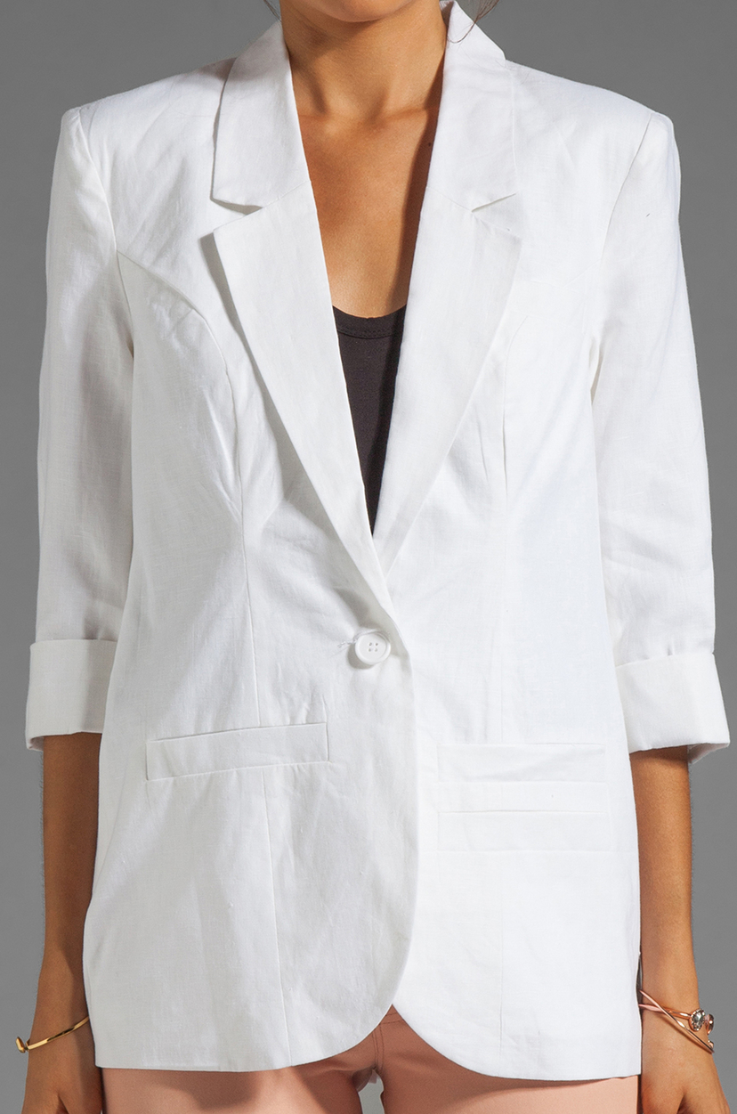 Central Park West Eloise's Pick of the Week Blazer in White Outerwear