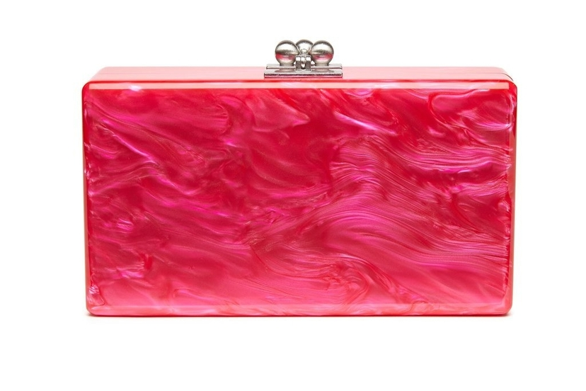 Edie Parker Jean Solid Clutch - Hot Pink Bags