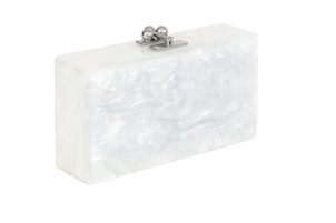 Edie Parker Jean Solid Clutch - White Bags