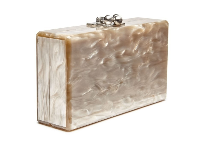 Edie Parker Jean Solid Clutch - Taupe Bags
