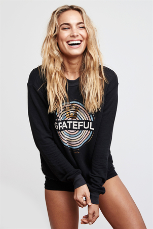 Spiritual Gangster Grateful Medallion Crop Sweatshirt SOLD OUT Sale Tops