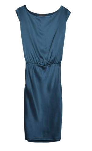 Nili Lotan Eva Knee Length Dress in Teal Dresses