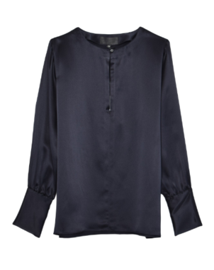 Nili Lotan Kayla Top in Dark Navy Tops