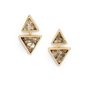 Seraphine Design Two-in-One Gaia Earring in Gold Jewelry