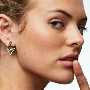 Seraphine Design Two-in-One Gaia Earring in Silver Jewelry