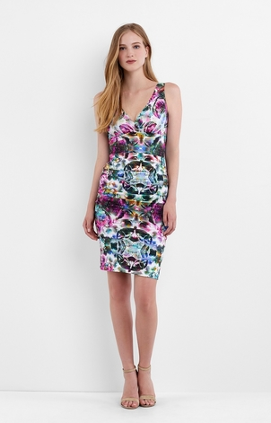 Nicole Miller Krista Mirrored Blossom Dress Dresses