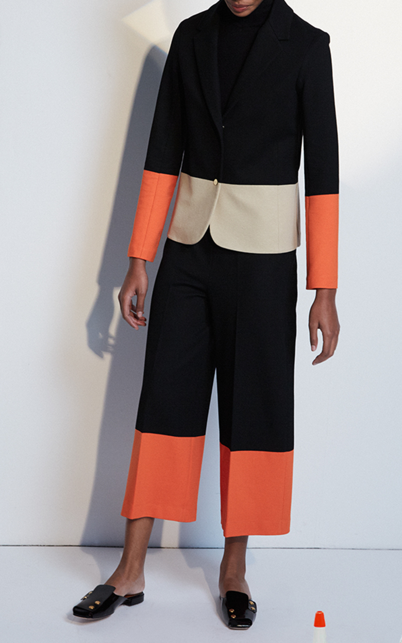 Rosetta Getty Fitted Color Block Jacket Outerwear