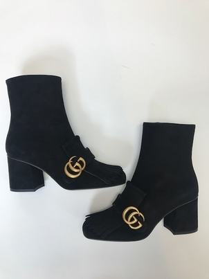 Gucci Suede Ankle Boot Shoes