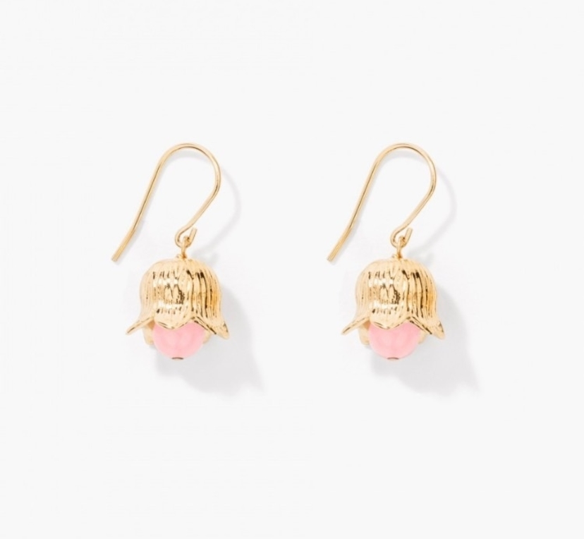Lily of the Valley Earrings in Pink