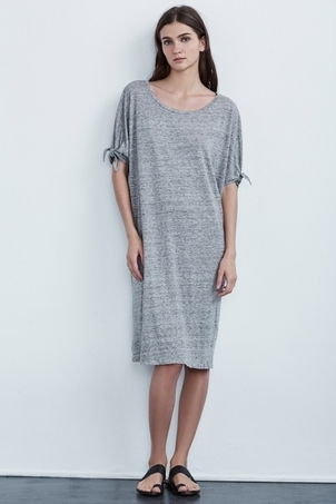 Velvet Anwen Linen Knit Knot Sleeve Dress Dresses