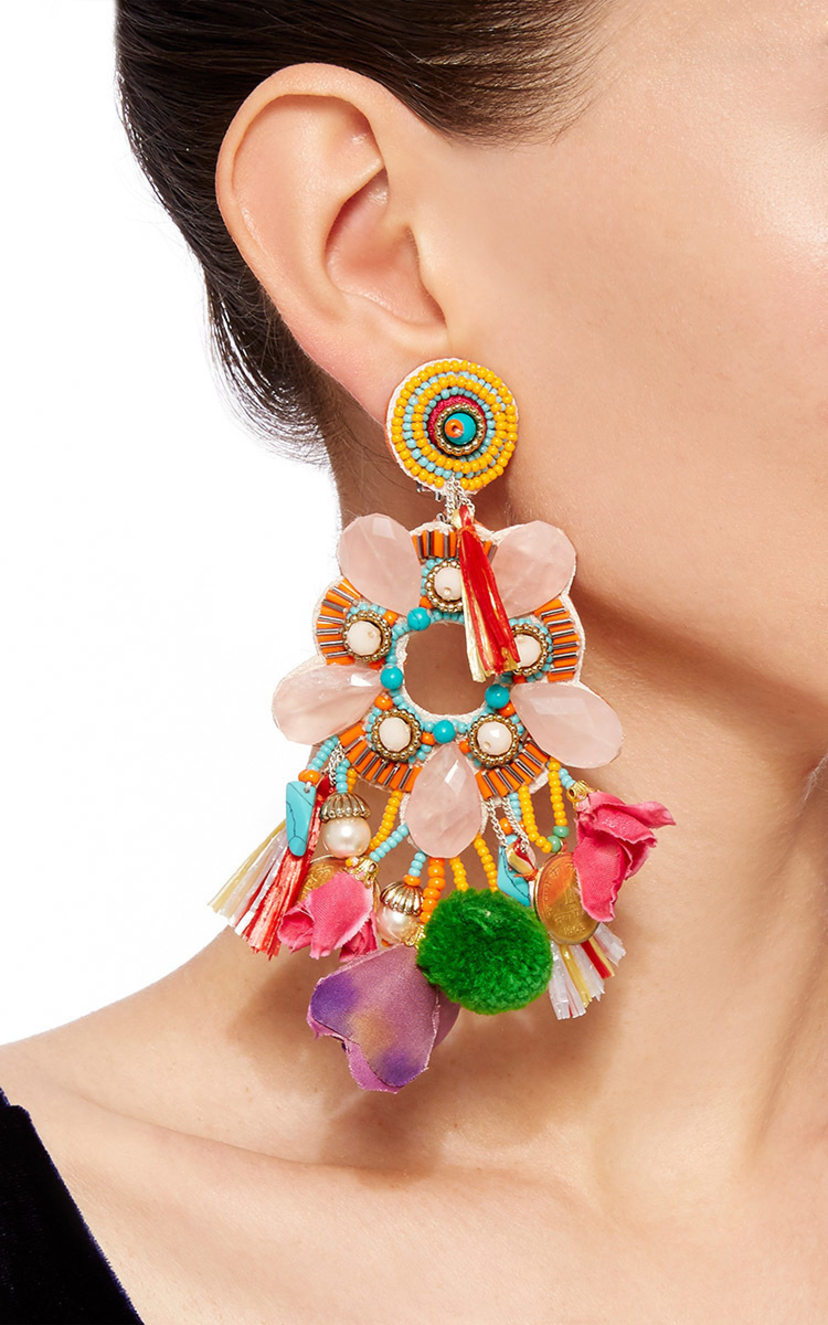 Ranjana Khan Statement Earrings Jewelry