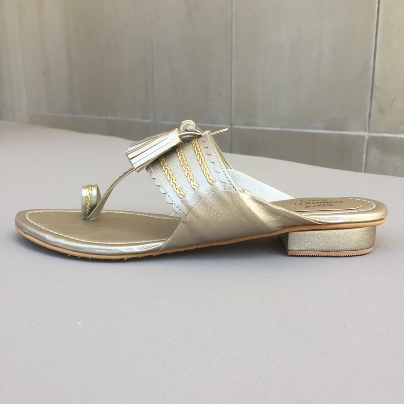 Rungolee Champagne Slides Shoes
