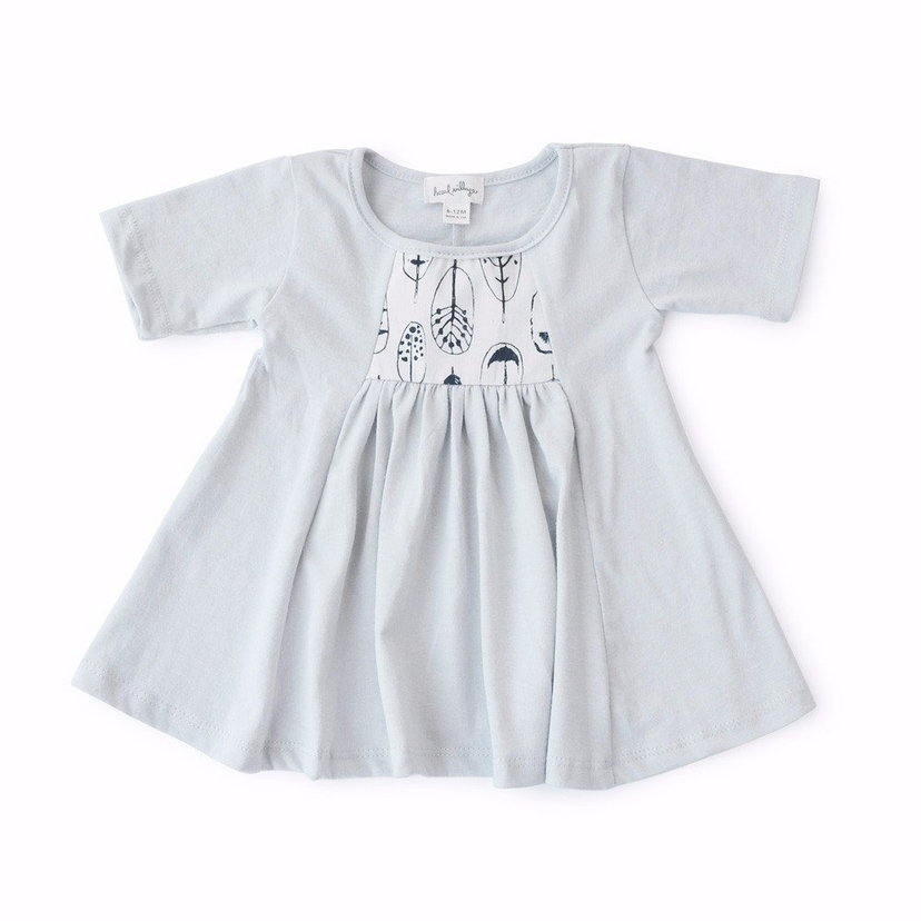 Hazel Village Mist Blue Dress Kids