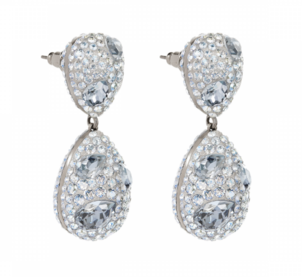 Atelier Swarovski Moselle Double Drop Pierced Earrings Jewelry