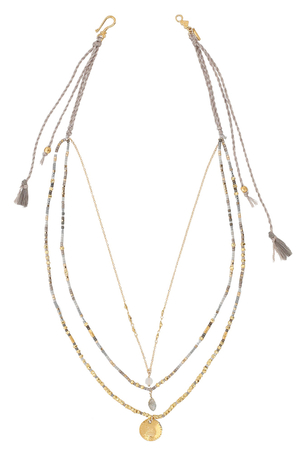 Chan Luu Grey Mix Pre-Layered Necklace Jewelry