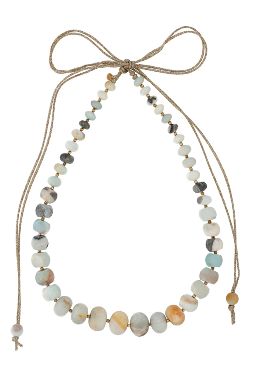 Multi Amazonite Mokuba Statement Necklace