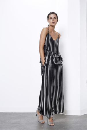 Shilla the Label Stripe Layered Cami Tops