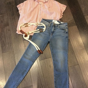 FRAME Trovata Button Up Henley & Le High Skinnys Accessories Pants Tops