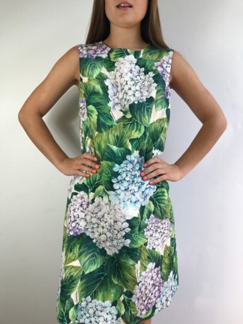 Dolce sleeveless hydrangea dress