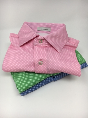 Oliver Ridley Dot Oxford Shirts Tops