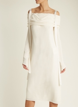 Sies Marjan Rita Crepe Long Sleeve Dress Dresses