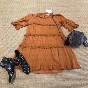 Isabel Marant Étoile Jerome Dreyfuss Tiered Dress with Booties Bags Dresses Shoes