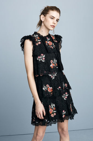 Rebecca Taylor Taxidermy Lace Embroidered Dress Bags Dresses
