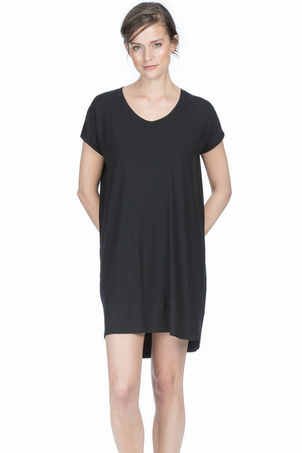 Lilla P Scoop Neck Dress in Black Dresses