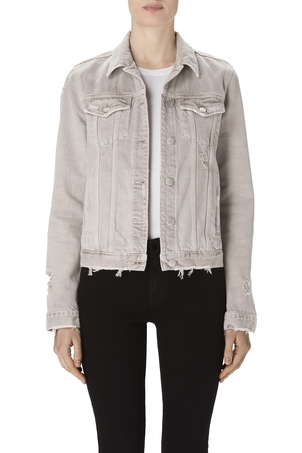 J Brand Slim Jacket in Ash Kids Outerwear