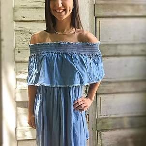 Serene Skies Chambray dress, $109!