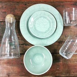 Just a few selections of one of our upcoming bride's registry selection from @juliskaofficial. Gail Penix has chosen Puro Mist Grey for her dinnerware and Hugo Crackle for her drinkware.  We just can't get enough of ...