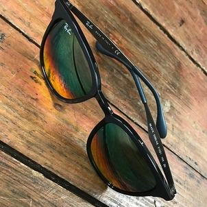 Who doesn't need to hide behind a little sass in their shades? Ombre colored lenses from Ray Ban. $169. Text 870-217-1859 to order.