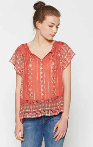 Joie Arevig Silk Top Tops