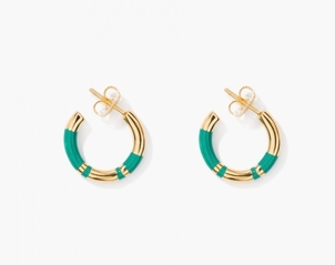 Aurélie Bidermann Green Positano Earrings Jewelry