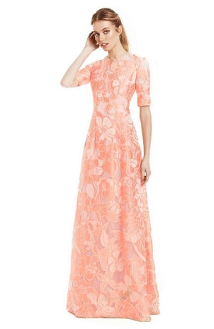 Lela Rose Floral Fil Coupe Holly Gown Dresses Sale