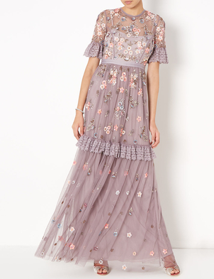 Needle & Thread Ditsy Gown in Lavender Dresses Sale