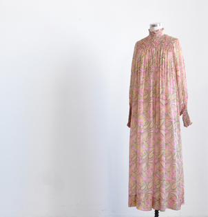 Just Say Native Raksha Silk High Neck Maxi Dresses