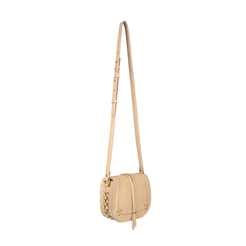 Jerome Dreyfuss Victor Crossbody In Mastic Calfskin Bags