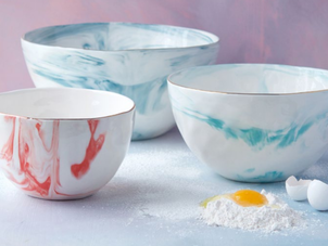 Marble Mixing Bowls Gourmet goods