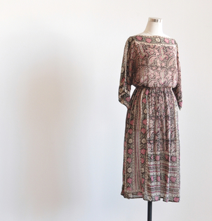 Just Say Native Judith Ann Paisley Boatneck Dress Dresses