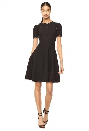 Milly Bar Pointelle Textured Dress. Dresses