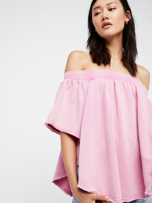 Free People Kiss Me Tube in Pink Tops