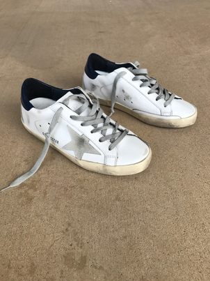 Golden Goose Deluxe Brand Superstar Sneaker A7 in White Shoes