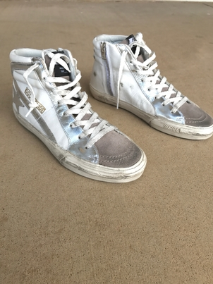 Golden Goose Deluxe Brand Slide Sneakers F56 in White Shoes